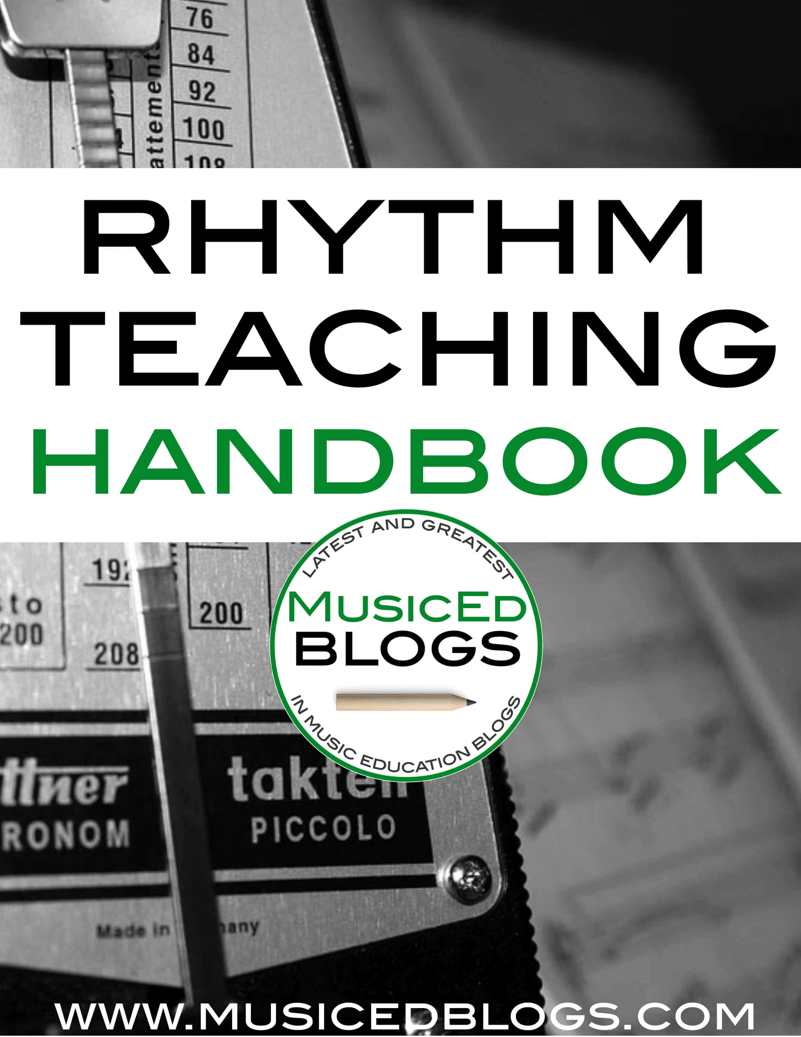 """picture of text that says """"rhythm teaching handbook"""""""